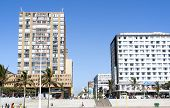 Residential And Commercial Buildings On Beachfront In Durban South Africa