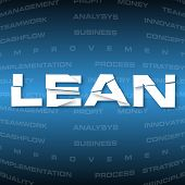 Abstract Background With Heading Lean