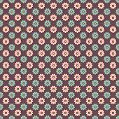 Elegant romantic vector seamless pattern (tiling). Retro pink