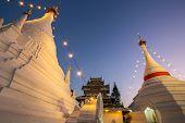 Wat Phra That Doi Kong Mu temple stupa in Mae Hong Son, Northern Thailand