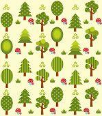 Cute tree pattern