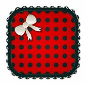 Square Red Polka Dot Patch