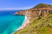image of bixby  - California Bixby bridge in Big Sur in Monterey County along State Route 1 US - JPG