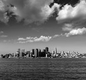 San Francisco skyline in California from Treasure Island USA