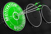 Motivation Concept on Green Target.
