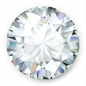 Realistic vector diamond isolated on white background
