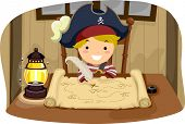 foto of stick-bugs  - Illustration of a Little Boy Dressed in a Pirate Costume Looking at a Map - JPG