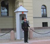 Royal Guard guarding Royal Palace in Oslo, Norway