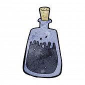 cartoon old ink pot