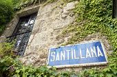 Santillana del Mar Sign, Cantabria, Spain