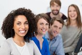 Successful Enthusiastic Multiethnic Business Team