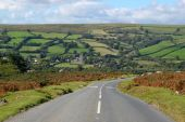 Country Road To Widdecombe In The Moor, Dartmoor England.