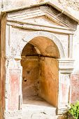 Plaster Alcove In Old Pompeii