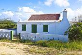 Typical caribbean cunucu house in Aruba Island