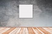 Concrete Wall With Picture Square