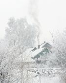 Village Winter Snow Day