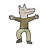 cartoon wolf man