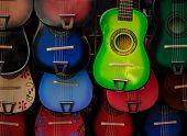 Colorful Guitars At Olvera Street