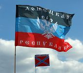 Flags Of The Donetsk Republik And Novorossia