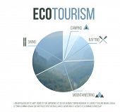 Eco tourism graph over white background