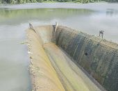 Old Spillway On Concrete Small Dam