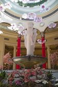 Sculpture at the atrium of The Palazzo Resort Hotel Casino in Las Vegas