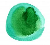 Abstract Green Watercolor Hand Painted Background