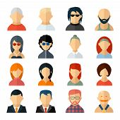 ������, ������: Set of user avatar icons in flat style