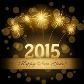 image of congrats  - 2015 Happy new year vector design - JPG