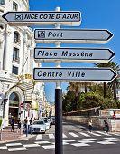 Nice - Road Signpost
