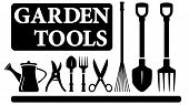 isolated gardening tools