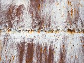 Rusty metal welding seam