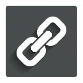 Link sign icon. Hyperlink symbol.