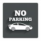 No parking sign icon. Private territory symbol.