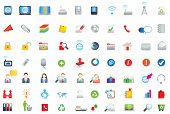 flat vector icons on white background