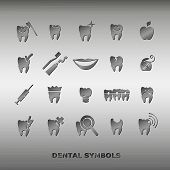 Set of dentistry symbols.