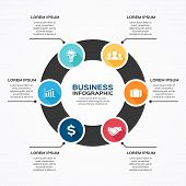 Modern vector infographic for business project