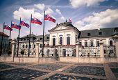 Grassalkovich palace at city Bratislava, Slovakia