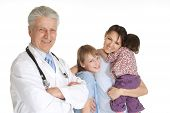Funny family go to doctor