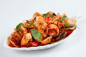 claim stir fried with tamarind, a Vietnamese traditional cuisine seafood, this kind of food is sour