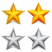 Golden and silver stars.