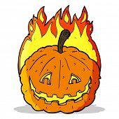 cartoon grinning pumpkin