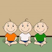 Cute little kids in national tricolors outfits on occasion of 15th of August, Indian Independence Da