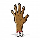 gross zombie hand cartoon