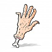 cartoon gross severed hand