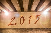 The Year 2015 Painted As Graffiti