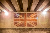 Union Jack Flag Painted On A Wall
