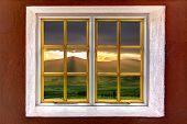 Magical Landscape Seen Through A Window