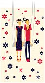 Couple in love card