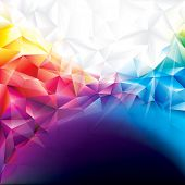 Colorful abstract polygonal design background. Raster.